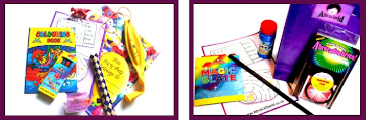 Traditional magic themed party bags